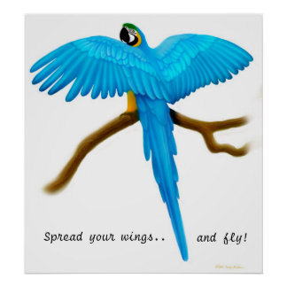 Spread Your Wings Parrot Print
