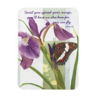 Spread Your Wings - Purple Iris & Butterfly Magnet