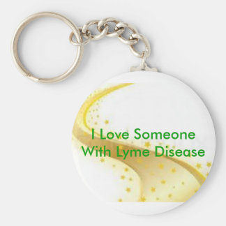 Spreading awarenesss about tick-borne diseases! basic round button keychain