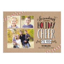 Spreading Cheer Holiday Photo Card