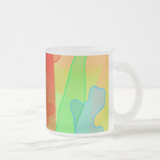 Spreading Gel in Bright Colors Frosted Glass Coffee Mug