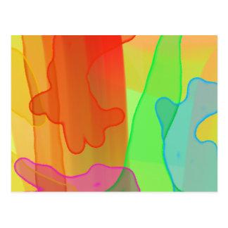 Spreading Gel in Bright Colors Postcard