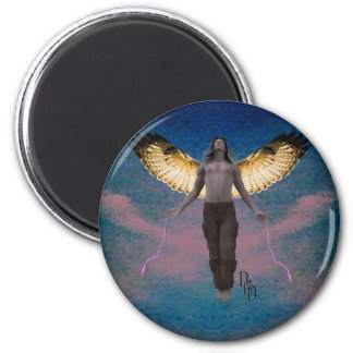 Spreading My Wings 2 Inch Round Magnet