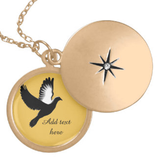 Spreading my Wings,Faith_ Gold Plated Necklace