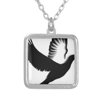 Spreading my Wings,Faith_ Silver Plated Necklace