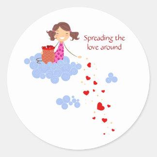 Spreading the Love Around Classic Round Sticker