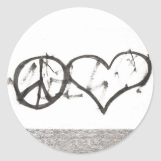 Spreading the Love Classic Round Sticker