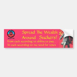 Spreading the Wealth Around Car Bumper Sticker