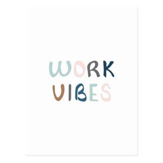 Spreading work vibes postcard