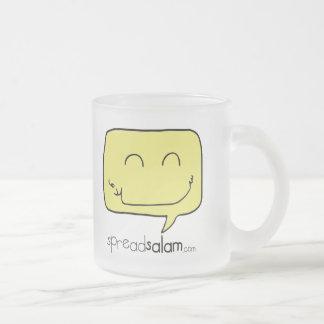 SpreadSalam Frosted Glass Coffee Mug