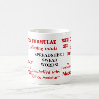 Spreadsheet Swear Words! - Very Rude Office Mug