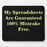 Spreadsheets Mistrake Free - Spreadsheet Joke Mouse Mat
