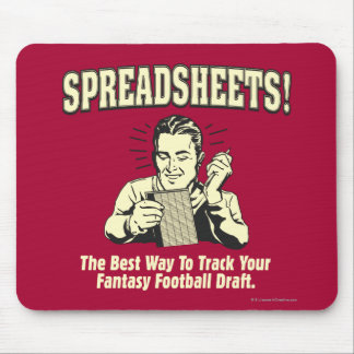 Spreadsheets: Track Your Fantasy Football Draft Mouse Pad
