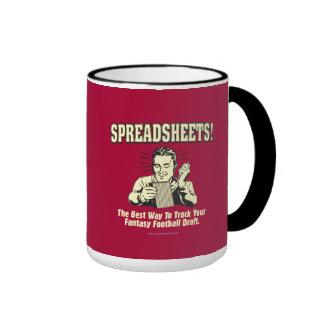 Spreadsheets: Track Your Fantasy Football Draft Ringer Mug