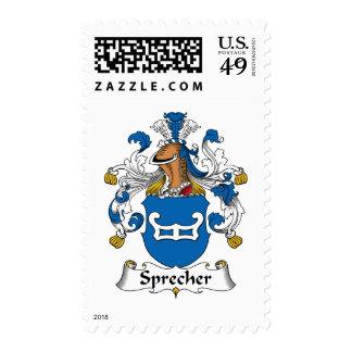 Sprecher Family Crest Stamp
