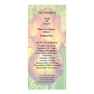Spreckles Iris Wedding Program