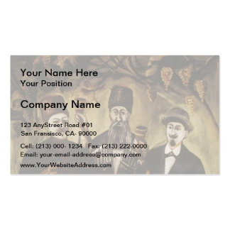 Spree in the grape arbor by Niko Pirosmani Double-Sided Standard Business Cards (Pack Of 100)