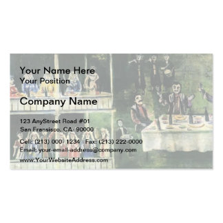 Spree near the two-story house by Niko Pirosmani Double-Sided Standard Business Cards (Pack Of 100)