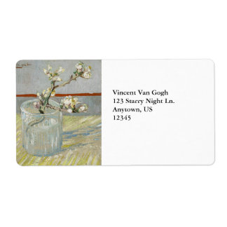 Sprig of Flowering Almond in a Glass by Van Gogh Custom Shipping Label