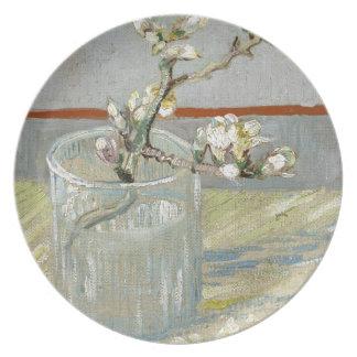 Sprig of Flowering Almond in a Glass by Van Gogh Melamine Plate