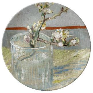 Sprig of Flowering Almond in a Glass by Van Gogh Plate