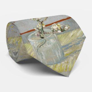 Sprig of Flowering Almond in a Glass by Van Gogh Tie