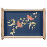 Sprig of Flowers Blue Kitchen Serving Tray