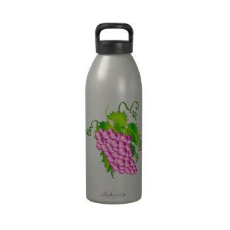 Sprig of Grapes Reusable Water Bottle