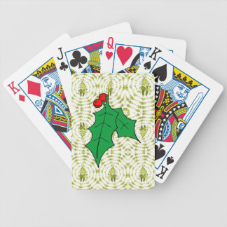 Sprig of Holly Bicycle Playing Cards