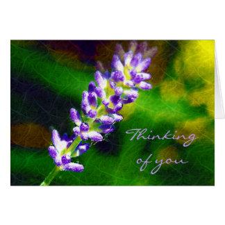 Sprig of Lavender Card