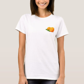 Sprig of Oranges Ladies Baby Doll (Fitted) T-Shirt