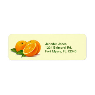 Sprig of Oranges Return Address Labels