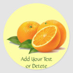 Sprig of Oranges Stickers (in many shapes)