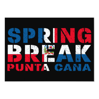 Sprin Break Punta Cana Dominican Republic Card