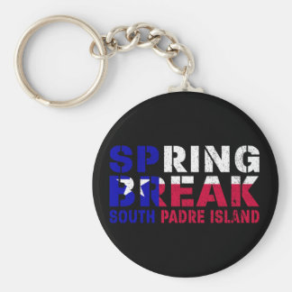 Sprin Break South Padre Island Texas Flag Keychain