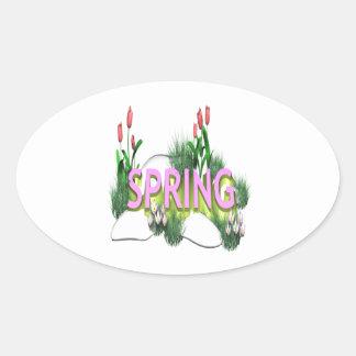 Spring 11 oval sticker