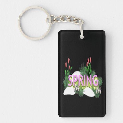 Spring 11 rectangle acrylic keychains