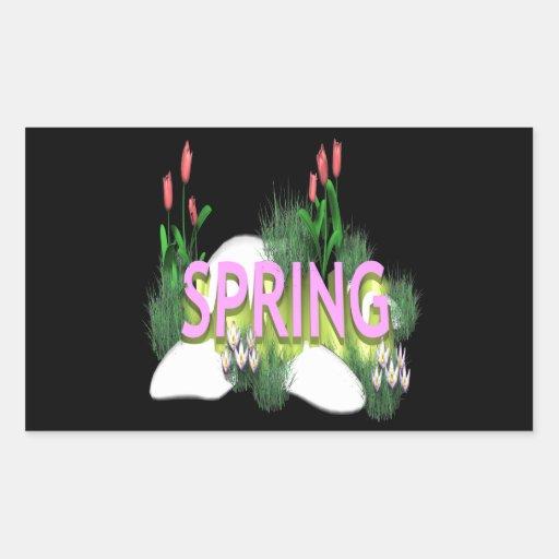 Spring 11 rectangular sticker