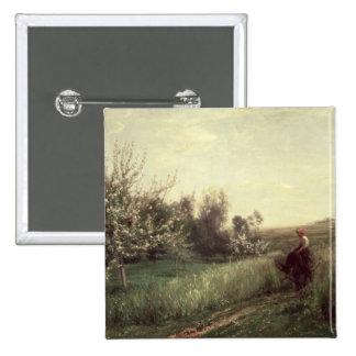 Spring, 1857 pinback button