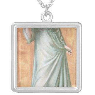 Spring, 1869-70 square pendant necklace