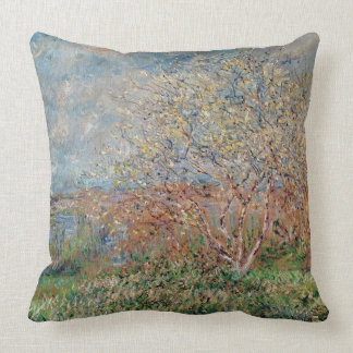 Spring, 1880-82 throw pillows