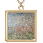 Spring, 1880-82 square pendant necklace