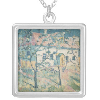 Spring, 1904 silver plated necklace