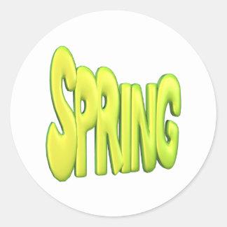 Spring 1 classic round sticker