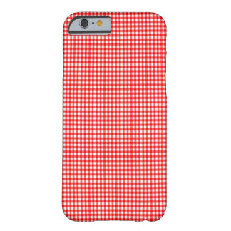 Spring 2015 trend tiny check red and white Gingham Barely There iPhone 6 Case