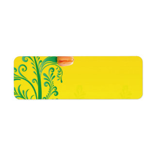 spring-256697 BRIGHT YELLOW-ORANGE BACKGROUND SPRI Label