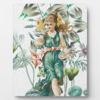 Spring 2 - Angel with Flowers Plaque