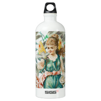 Spring 2 - Angel with Flowers Water Bottle
