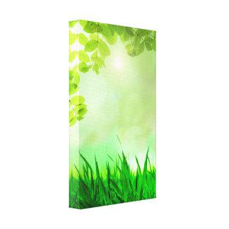 spring-315228 FANTASY GREEN FIELD MEADOW spring ba Canvas Print