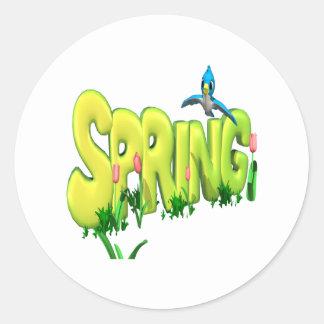 Spring 3 classic round sticker